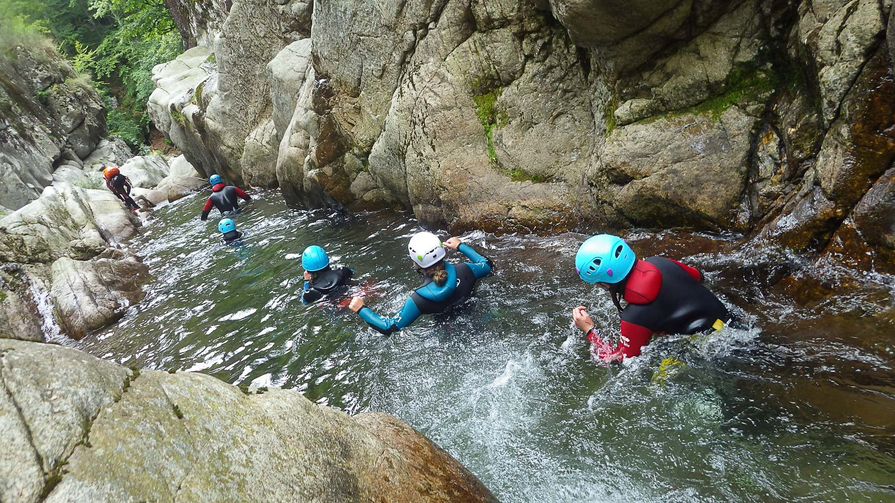 Canyoning en Cévennes, les Tines